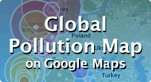 Global Pollution Map on Google Maps