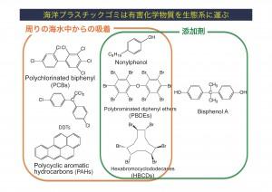 図8 マイクロプラスチックに含まれる化学物質